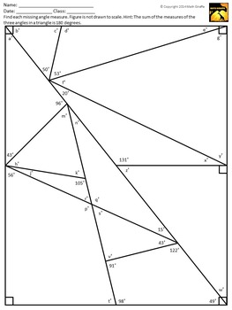 Vertical Angles & Other Special Angle Pairs - Inquiry Lesson Pack