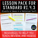 Lesson Pack for RI.4.3 (Events and Ideas in a Historical Text)