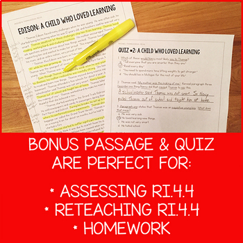 Lesson Pack for RI.4.4 (Determine the Meaning of Words and Phrases)