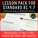Lesson Pack for RI.4.7 (Interpret Information in Different Forms)