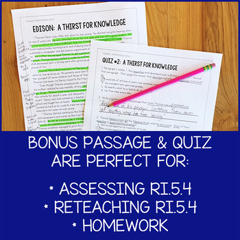 Lesson Pack for RI 5.4 (Determine Meaning of Words and Phrases)