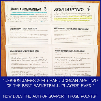 Lesson Pack for RI.5.8 (How an Author Supports His or Her Points)