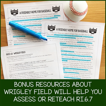 6th Grade Lesson Pack for RI.6.7 (Integrate Information in Different Formats)