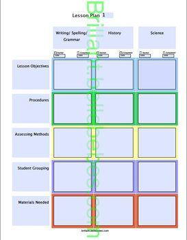 Lesson Plan - Editable PDF