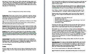 Grade 3 Lesson Plan Session  1/ The Art of Informational Writing & bonus lesson