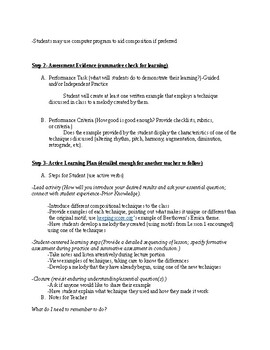 Music Composition Unit Lesson Plan 2: Developing Melodic Ideas