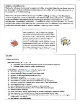 Art Lesson Plan - Art and Arty Smart Present Whimsical Bugs