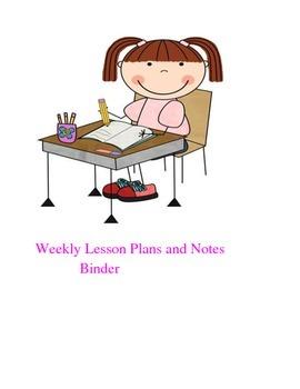 Lesson Plan Binder