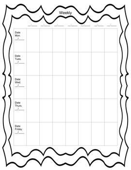 Lesson Plan Binder (Horizontal and Vertical views)
