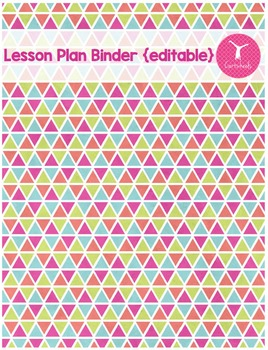 Lesson Plan Binder | Back to School Organization {editable}