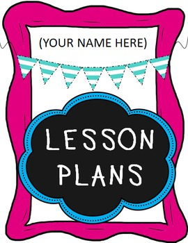 Lesson Plan Binder Cover