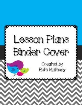 {Lesson Plan Binder Cover Freebie} Bird Theme with Blue Ba