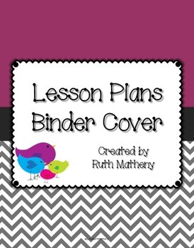 {Lesson Plan Binder Cover Freebie} Bird Theme with Purple
