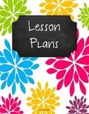 {Lesson Plan Binder Cover Freebie} Bright Floral Burst Chalkboard