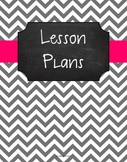 {Lesson Plan Binder Cover Freebie} Gray Chevron Chalkboard with Pink Ribbon