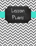 {Lesson Plan Binder Cover Freebie} Gray Chevron Chalkboard with Turquoise Ribbon