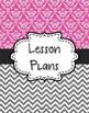 {Lesson Plan Binder Cover Freebie} Magenta Damask and Gray Chevron
