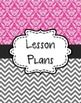{Lesson Plan Binder Cover Freebie} Magenta Damask and Gray