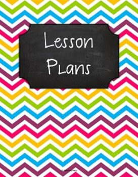 {Lesson Plan Binder Cover Freebie} Multi Brights Chevron Chalkboard