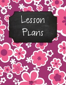 {Lesson Plan Binder Cover Freebie} Pink and Purple Flowers Chalkboard