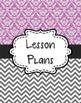 {Lesson Plan Binder Cover Freebie} Purple Damask and Gray Chevron