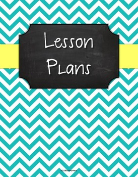 {Lesson Plan Binder Cover Freebie} Turquoise Chevron Chalkboard Butter Ribbon