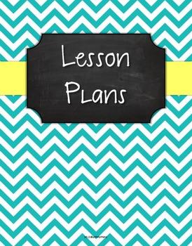 {Lesson Plan Binder Cover Freebie} Turquoise Chevron Chalk