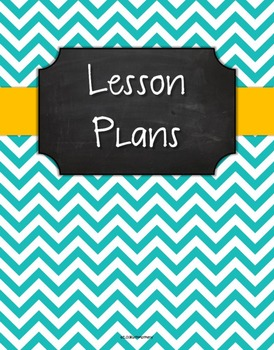 {Lesson Plan Binder Cover Freebie} Turquoise Chevron Chalkboard w/ Orange Ribbon