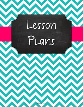 {Lesson Plan Binder Cover Freebie} Turquoise Chevron Chalkboard with Pink Ribbon
