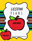 Lesson Plan Binder Cover Page