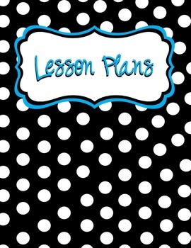 Lesson Plan Binder Cover and Spine Label