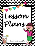 Lesson Plan Binder Cover from Sweet Southern Charm
