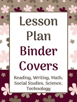 Lesson Plan Binder Covers