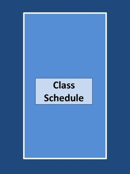 Lesson Plan Binder Inserts and Cover Blue