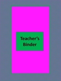 Lesson Plan Binder Inserts and Cover Pink & Green