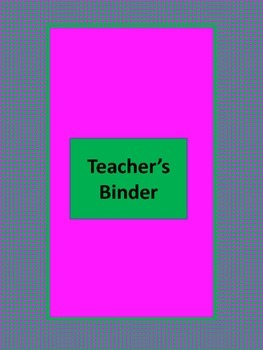 lesson plan binder inserts and cover pink green by sethandshadowbooks