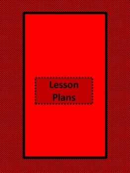 Lesson Plan Binder Inserts and Cover Red and Black