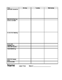 Lesson Plan Binder Template