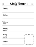Lesson Plan Blank Printable 2018-2019 School Calendar