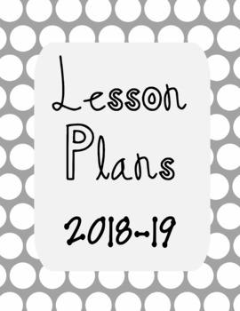 Lesson Plan Book 2018-19