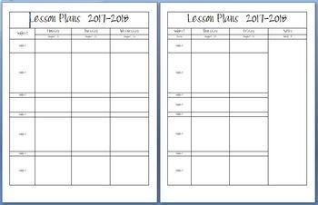 Teacher Lesson Plan Book and Grade Book 2017-2018-Completely Editable