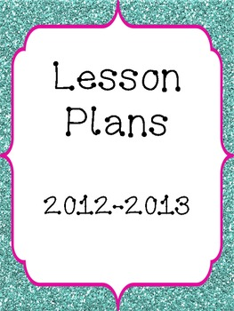 Lesson Plan Book Cover