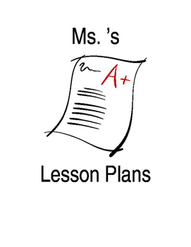 Lesson Plan Book Cover