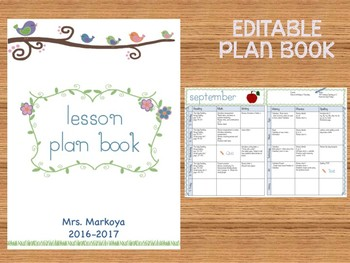 Lesson Plan Book  (Editable)