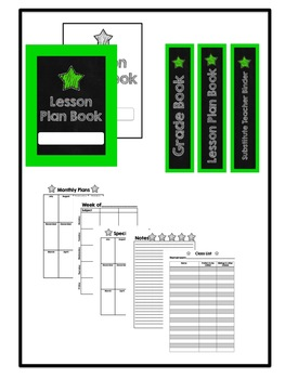 Lesson Plan Book, Grade Book,  Substitute Teacher Binder {Customizable}