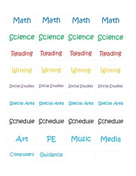 Lesson Plan Book Header Labels FREE