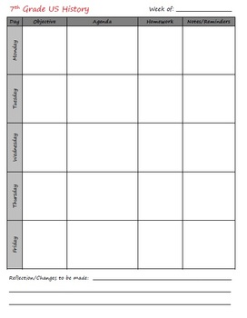 Lesson Plan Book Pages - Double Prep