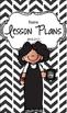 Lesson Plan Book & Planner {Black Hair: Black Herringbone}