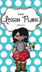 Lesson Plan Book & Planner {Black Hair & Glasses: Blue Polka Dot}