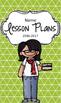 Lesson Plan Book & Planner {Black Hair & Glasses: Green Triangles}